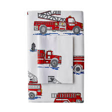 100 Fire Trucks Kids Company By The Company Store Truck Multi 200Thread Count