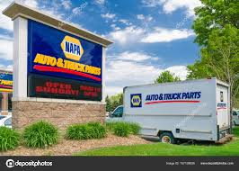 NAPA Auto Parts Store Sign And Truck – Stock Editorial Photo ...