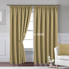 Teal Blackout Curtains Pencil Pleat by Cavendish Olive Pencil Pleat Lined Curtains Chiltern Mills