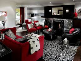 Red Living Room Ideas by Silver Living Room