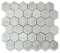 Faux Marble Hexagon Floor Tile by 10 75