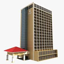 3D Hotel Hotel Building CGTrader