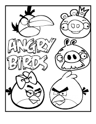 Angry Birds Simple Coloring Book