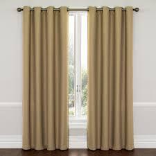 Eclipse Room Darkening Curtain Rod by Eclipse Wyndham Blackout Latte Curtain Panel 84 In Length