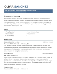 View Resume Student Disability Services