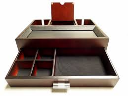 bedroom nightstand mens jewelry box mens leather valet tray