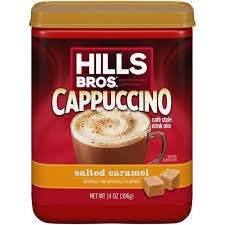 Hills Bros Cappuccino Salted Caramel Cafe Style Drink Mix