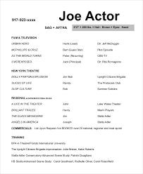 Joe Actor Resume Template Background