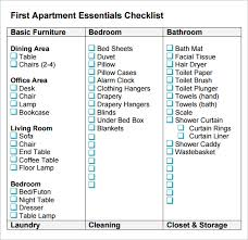 Checklist For First Apartment Myfavoriteheadache Printable Essentials Clutter And Renting