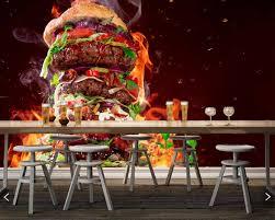 fast food hamburger fleisch gemüse lebensmittel 3d wallpaper