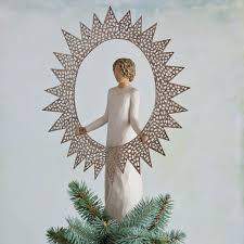 Black Angel Christmas Tree Topper by Amazon Com Willow Tree 27277 Starlight Angel Tree Topper 12 Inch