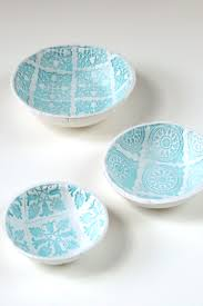 Learn How To Make Your Own Diy Stamped Clay Bowls Using Air Dry No