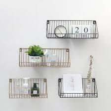 details zu gitter wandregal 30 cm mit ablage metall hängeregal bad regal küchenregal