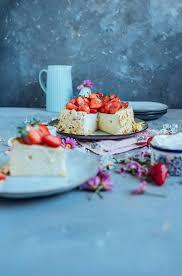quark griess kuchen ohne boden aber mit erdbeeren
