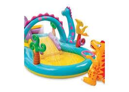 piscine a balle gonflable piscine aire de jeu gonflable dinoland avec toboggan pas cher