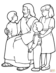 Full Size Of Coloring Pagecoloring Page Jesus The Little Children And