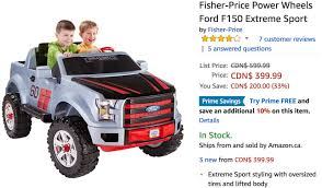 Amazon Canada Holiday Deals: Save 33% Fisher-Price Power Wheels Ford ... Amazing Power Wheels Ford F150 Extreme Sport Truck Toys 2016 Ecoboost Pickup Truck Review With Gas Mileage Amazoncom Lil Games Inspirational Fisher Price Ford F 150 Power Wheels Lifted Usps Toy We Review The The Best Kid Trucker Gift Fire Engine Jeep 12v Fisherprice Race Dodge Ram Vs Ford150 Raptor Youtube Silver Walmartcom