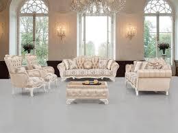 casa padrino luxus barock wohnzimmer set beige weiß 2 sofas 2 sessel 1 hocker wohnzimmer möbel im barockstil edel prunkvoll