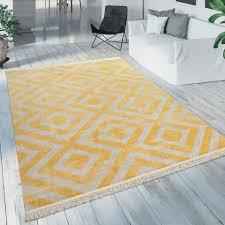 teppich poco 821 paco home rechteckig höhe 7 mm rauten design mit fransen in und outdoor geeignet wohnzimmer kaufen otto