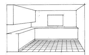 Drawn Kitchen Perspective 2