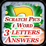 Scratch Pics 1 Word Answers – 3 Letters