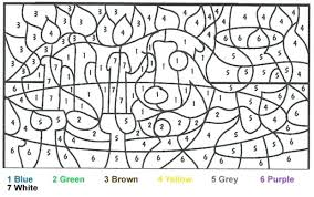 Color By Number Coloring Pages Free Fall