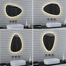 design oval led beleuchtung warm weiß licht wand badezimmer