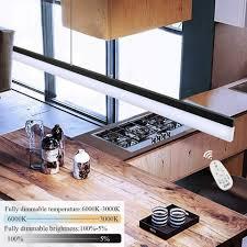 zmh pendelleuchte dimmbar mit fernbedienung hängeleuchte esstisch 120cm 23w minimalistische büroleuchte arbeitsplatzle für wohnzimmer büro