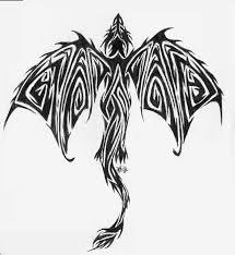 Nice Tribal Dragon Tattoo Design By Pucksgryn