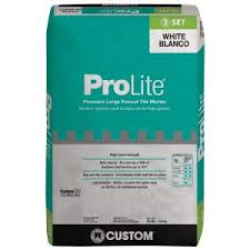 custom building products prolite 30 lb white tile and