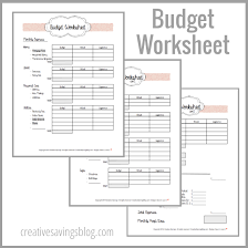 Use This FREE Budget Worksheet From Creative Savings To Help Guide You Through Your First