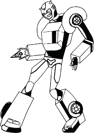 Bumblebee Fire Transformer Coloring Page Transformers Pages Online Animated To Print Full Size