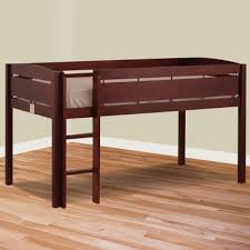 canwood whistler junior twin loft bed in cherry free shipping