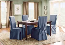 100 Wooden Dining Chair Covers Cotton Duck Long Slipcover SureFit