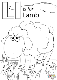 Lamb Coloring Page Letter L Is For Free Printable Pages Good