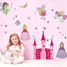 Girls Kids Room Wall Sticker Decoration Angel Paper Decal Bedroom Decor DIY Stickers Princess