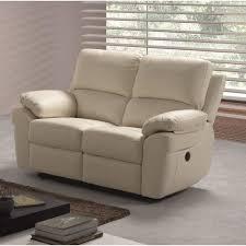 canapé 2 places en cuir corcega canapé droit de relaxation en cuir 2 places 146x90x96 cm