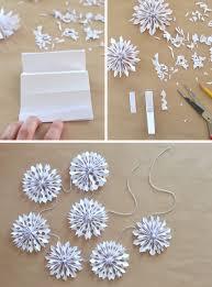 Handmade Holiday Paper Snowflake Garland
