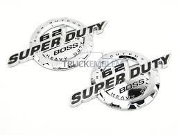 100 Ford Truck Emblems 2 New Custom Chrome Ford 1117 62l V8 Super Duty Badges Emblems