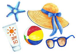 Summer & Beach Watercolor Clipart Summer Clip Art Beach Clip Art