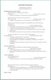 Middle School Teacher Resume Examples Substitute Cover Letter