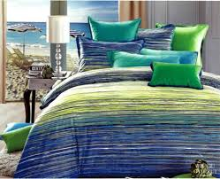 Unique Green And Blue Striped Bedding 30 With Additional King Size