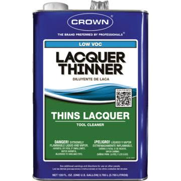 Crown Fast To Dissolve Lacquer Thinner - 1gal