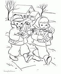 Kids Christmas Coloring Pages