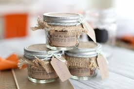 Wedding Favors Ideas Easy Round Clear Glass Cake Jar With Jute Metal Cap