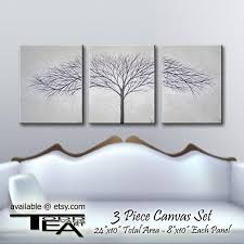 Total Area 3 Piece Black And White Wall Art Panel Comfortable Majestic Fabulous Interior Design Bedroom Living Room