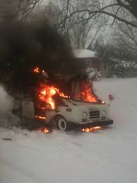 100 Postal Truck Fire Vehicles