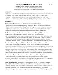 Best Resume For Experienced Software Engineer Resume Template For