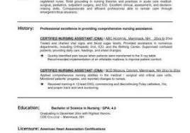 Cna Sample Resume Best