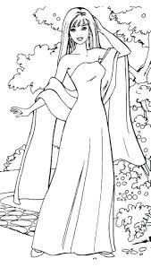 Barbie Coloring Pages Kids Tangled Rapunzel Printable Full Size